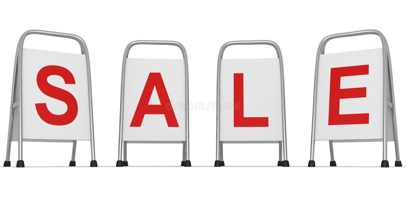 λευκό οδών στάσεων πώληση&s απεικόνιση αποθεμάτων