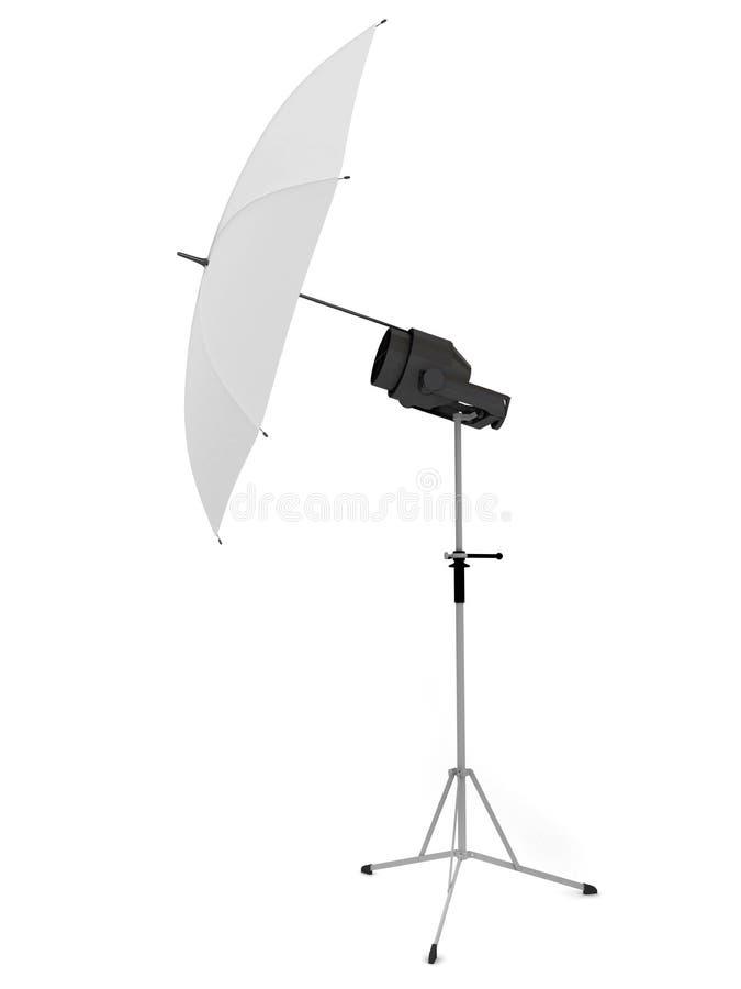 λευκό ομπρελών φωτογραφ διανυσματική απεικόνιση