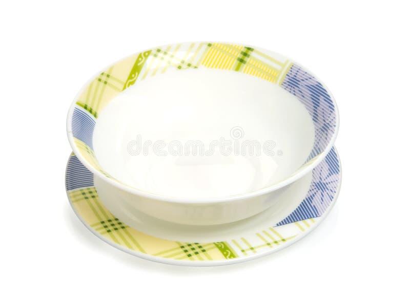 λευκό πιάτων διακοσμήσε&om στοκ φωτογραφία με δικαίωμα ελεύθερης χρήσης