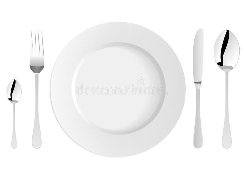 λευκό πιάτων διανυσματική απεικόνιση
