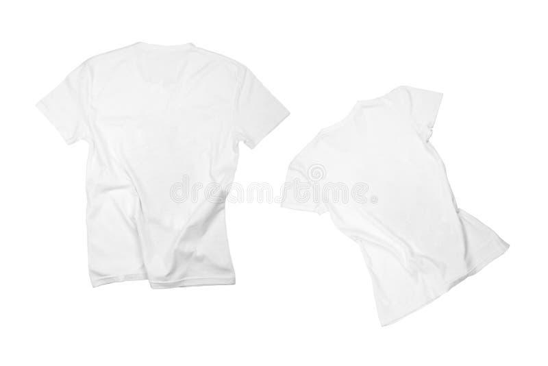 λευκό πουκάμισων τ δύο στοκ φωτογραφία