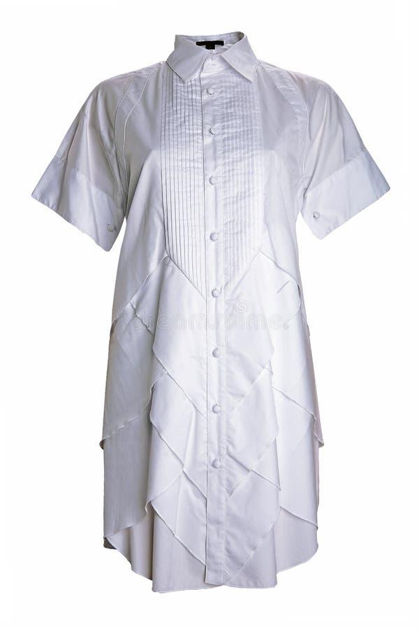 λευκό πουκάμισων φορεμά&ta στοκ φωτογραφία