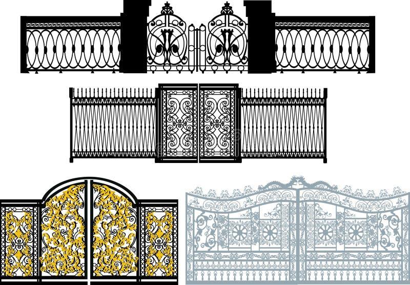 λευκό πυλών συλλογής διανυσματική απεικόνιση