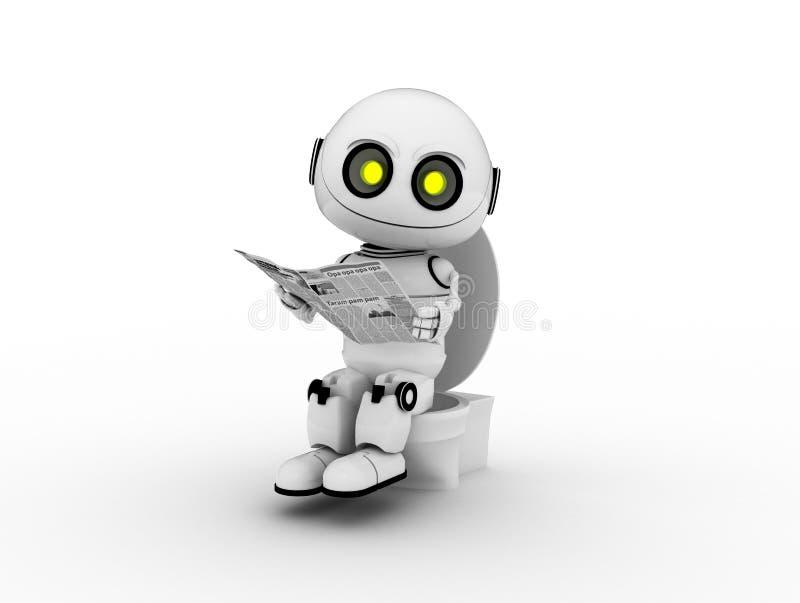 λευκό ρομπότ απεικόνιση αποθεμάτων