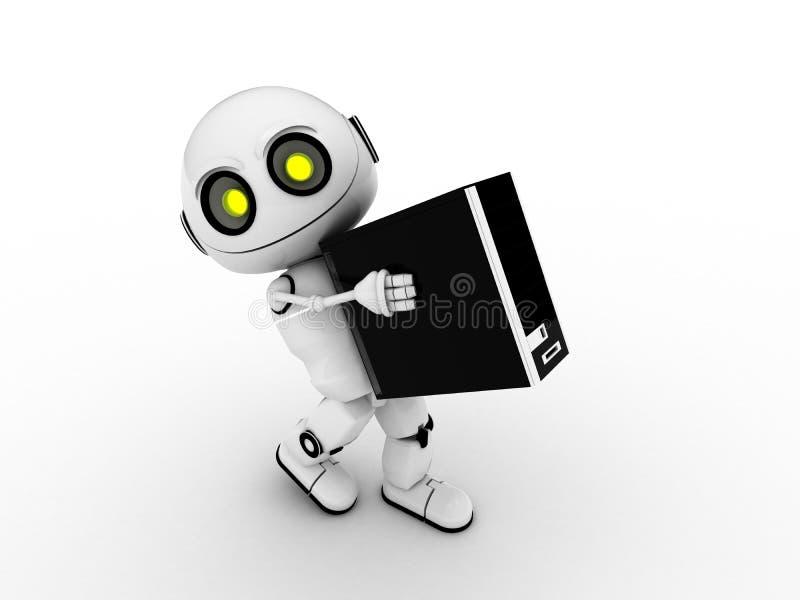 λευκό ρομπότ διανυσματική απεικόνιση