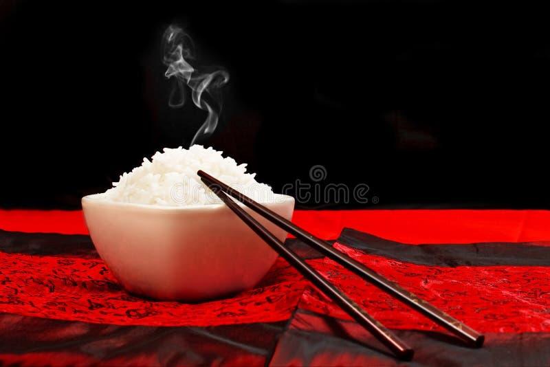 λευκό ρυζιού κύπελλων στοκ φωτογραφίες με δικαίωμα ελεύθερης χρήσης