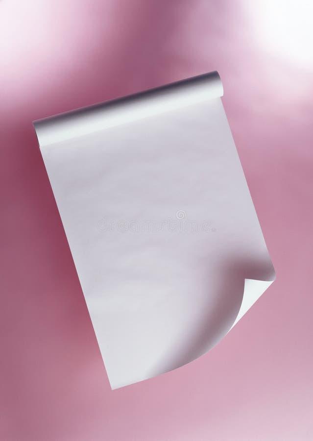 λευκό ρόλων εγγράφου στοκ εικόνες