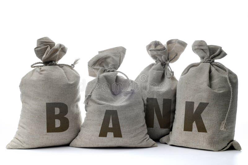 λευκό σάκων χρημάτων στοκ εικόνα