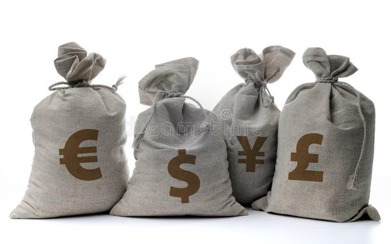 λευκό σάκων χρημάτων στοκ φωτογραφίες με δικαίωμα ελεύθερης χρήσης