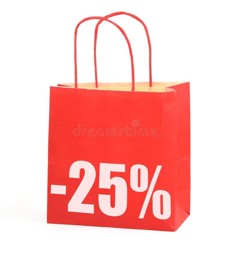 λευκό σημαδιών αγορών 25 τσ&alp στοκ εικόνες