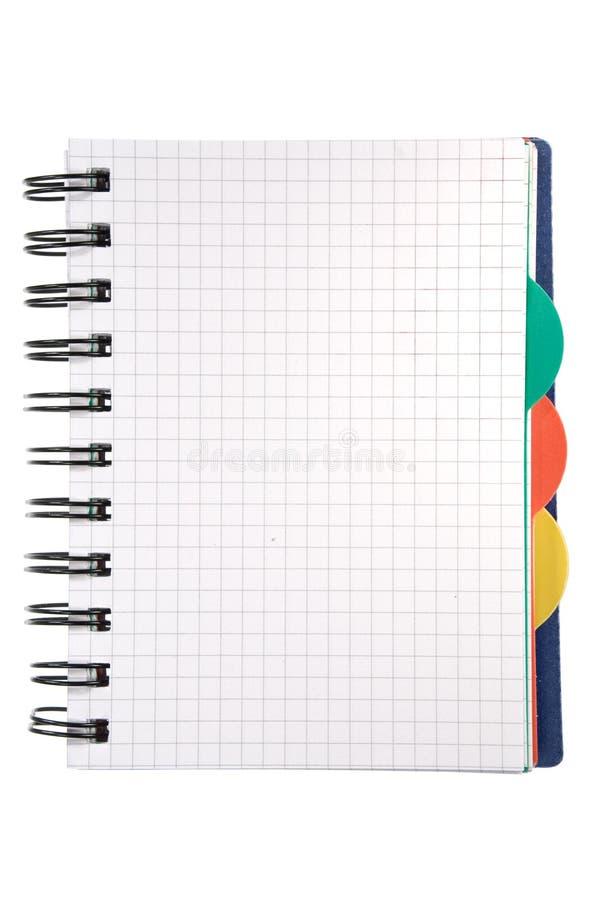 λευκό σημειωματάριων στοκ εικόνα με δικαίωμα ελεύθερης χρήσης