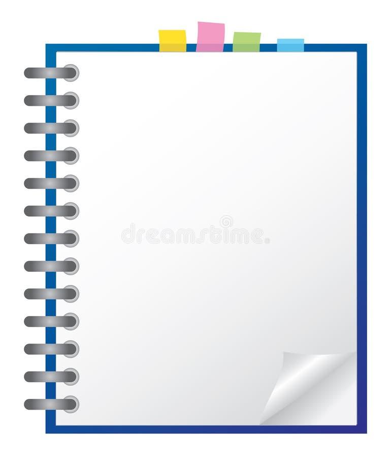λευκό σημειωματάριων απεικόνιση αποθεμάτων