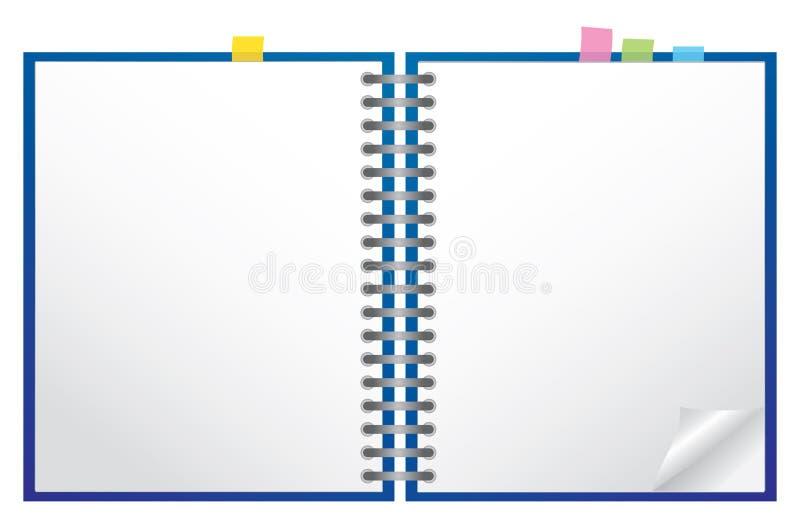 λευκό σημειωματάριων διανυσματική απεικόνιση