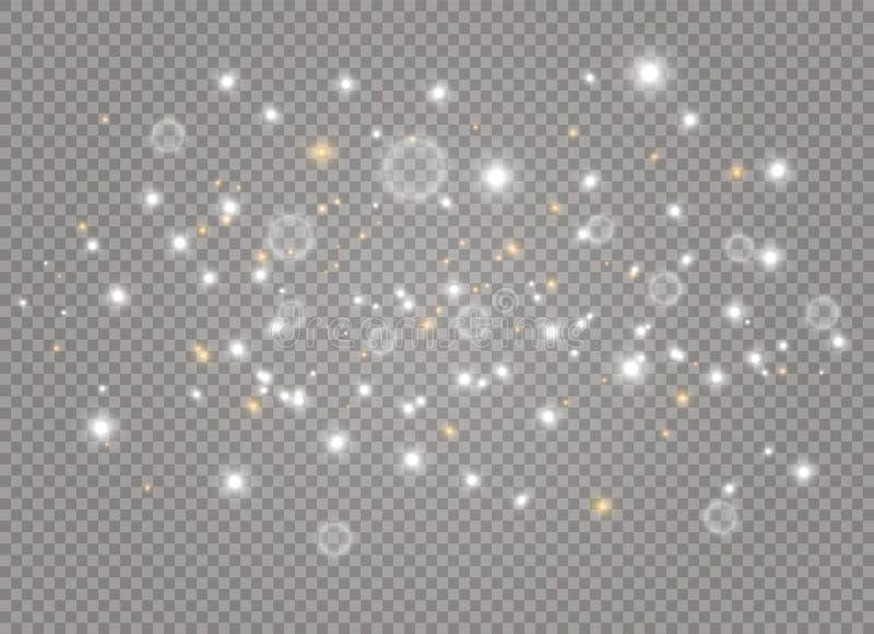 Λευκό σκόνης Χριστουγέννων απεικόνιση αποθεμάτων