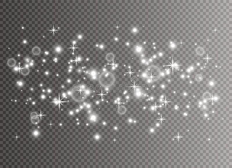 Λευκό σκόνης Χριστουγέννων διανυσματική απεικόνιση