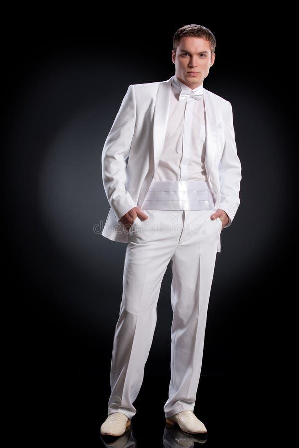 λευκό σμόκιν ατόμων στοκ φωτογραφία