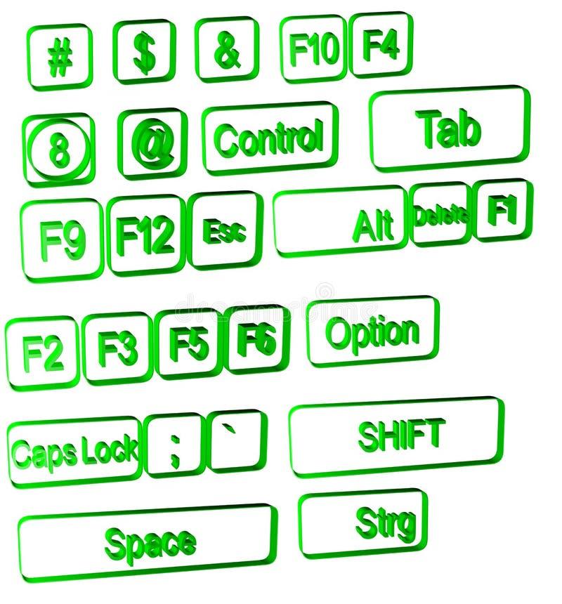 λευκό συμβόλων υπολογ&i στοκ εικόνες