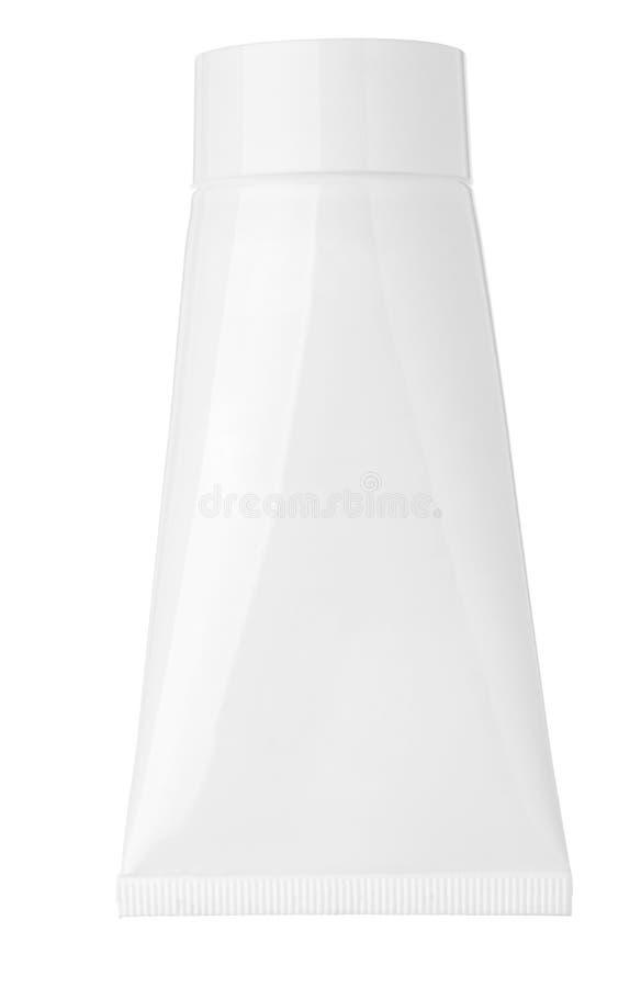 λευκό σωλήνων κρέμας στοκ φωτογραφία