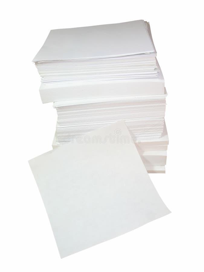 λευκό σωρών εγγράφου γρ&alph στοκ φωτογραφία με δικαίωμα ελεύθερης χρήσης