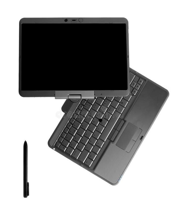 λευκό ταμπλετών PC lap-top ανασκό&pi στοκ εικόνες