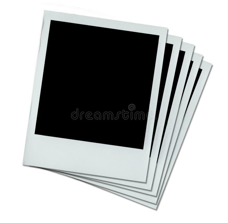 λευκό τεσσάρων polaroids στοκ φωτογραφία με δικαίωμα ελεύθερης χρήσης