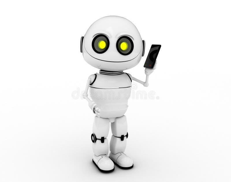 λευκό τηλεφωνικών ρομπότ απεικόνιση αποθεμάτων