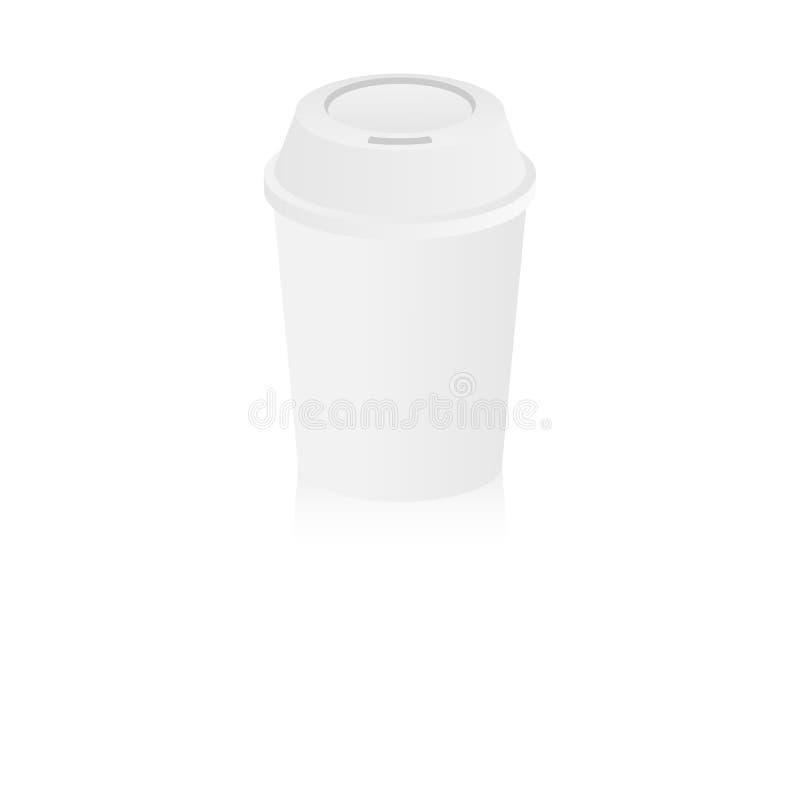 λευκό φλυτζανιών καφέ απεικόνιση αποθεμάτων