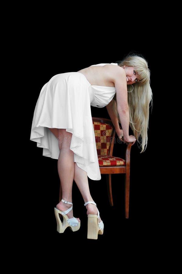 λευκό φορεμάτων στοκ φωτογραφία