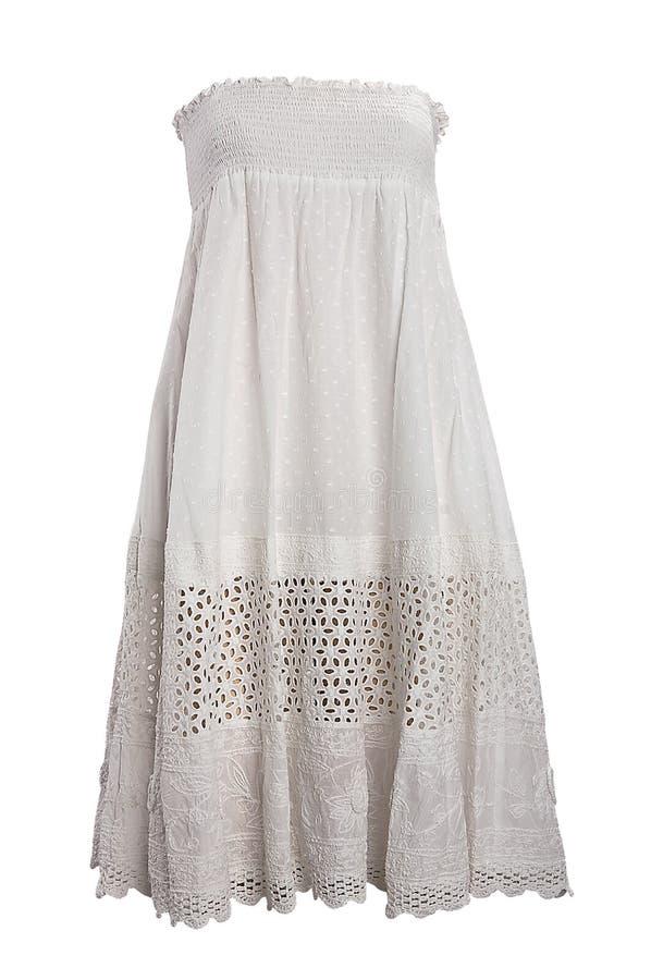 λευκό φορεμάτων στοκ εικόνα