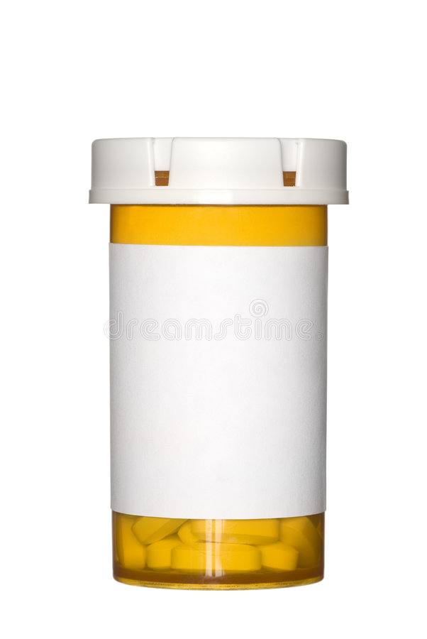 λευκό χαπιών μπουκαλιών α στοκ εικόνα