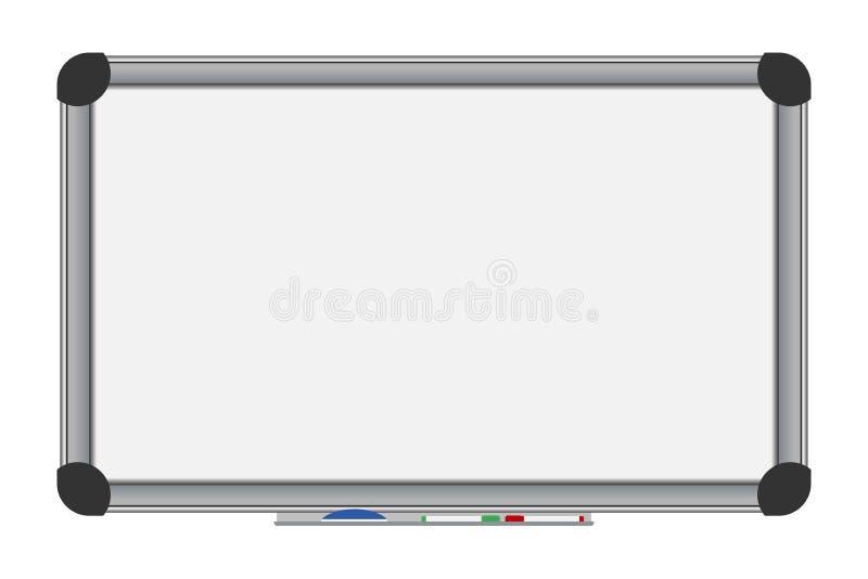 Λευκό χαρτόνι δεικτών Κενό γραφείο whiteboard διάνυσμα διανυσματική απεικόνιση