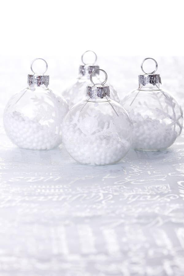 λευκό Χριστουγέννων ανα&si στοκ φωτογραφία