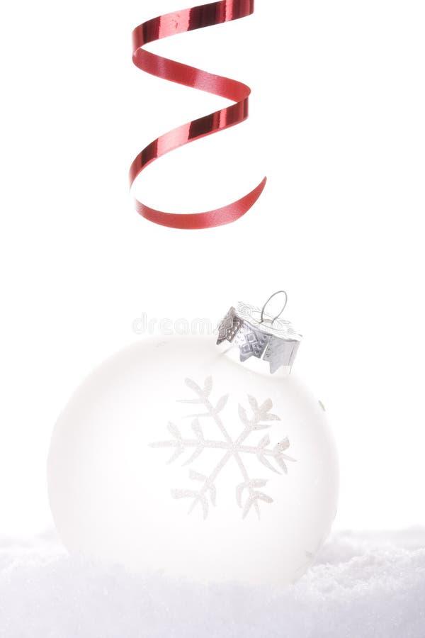 λευκό Χριστουγέννων ανα&si στοκ φωτογραφία με δικαίωμα ελεύθερης χρήσης