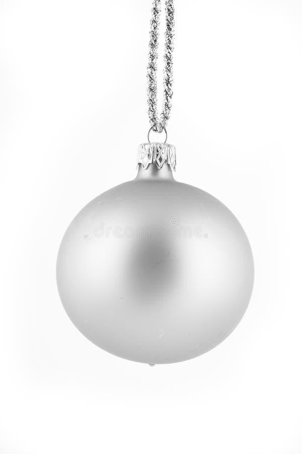λευκό Χριστουγέννων σφαιρών ανασκόπησης στοκ φωτογραφία με δικαίωμα ελεύθερης χρήσης