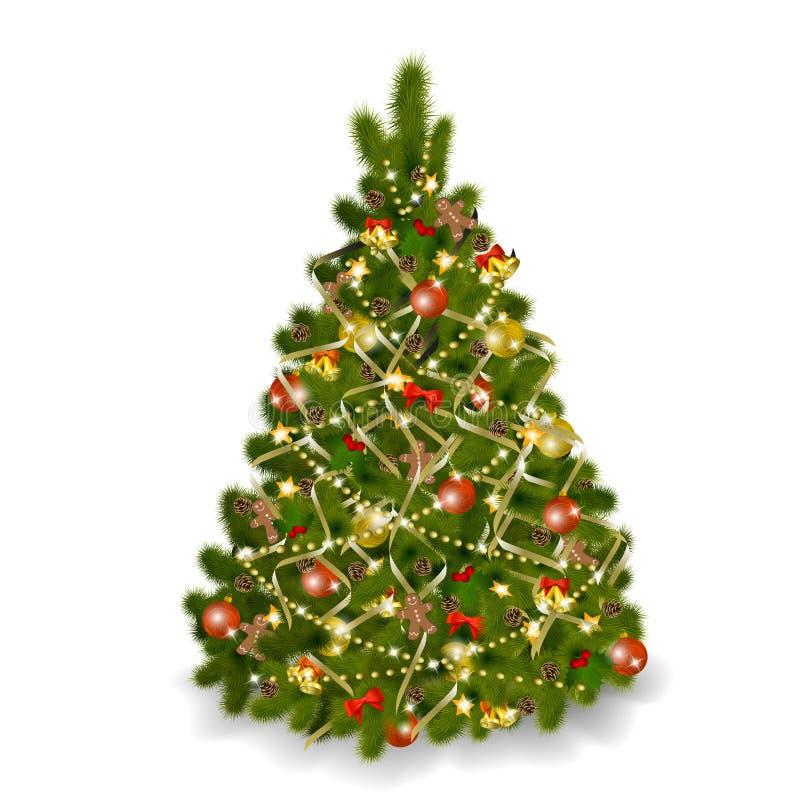 λευκό χριστουγεννιάτικ διανυσματική απεικόνιση