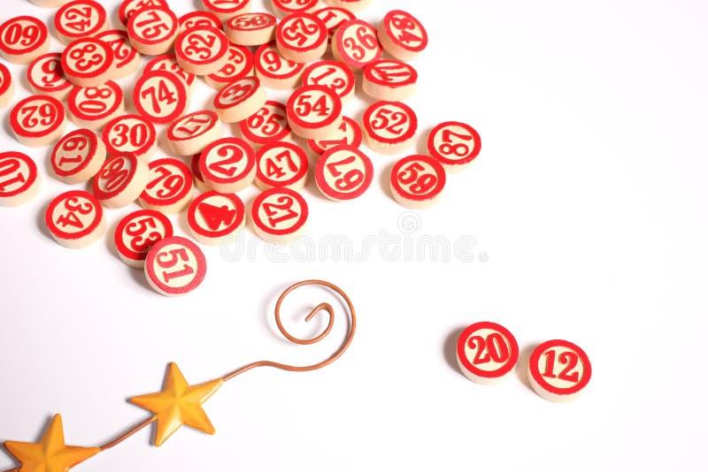 λευκό 2012 αριθμών bingo στοκ φωτογραφία με δικαίωμα ελεύθερης χρήσης
