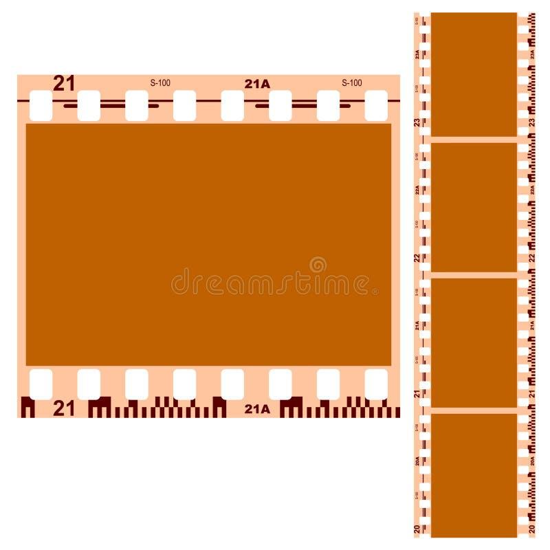 λευκό 35 μαύρο χιλ. ταινιών απεικόνιση αποθεμάτων