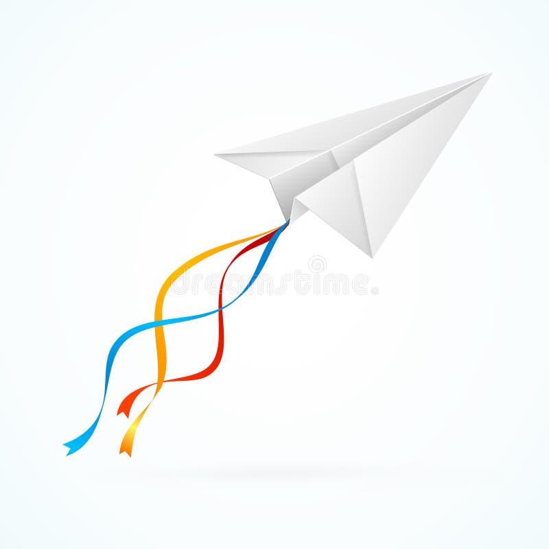 Λευκό Airplain εγγράφου διάνυσμα διανυσματική απεικόνιση