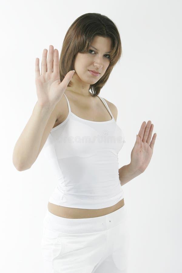 λευκό brunette στοκ φωτογραφία