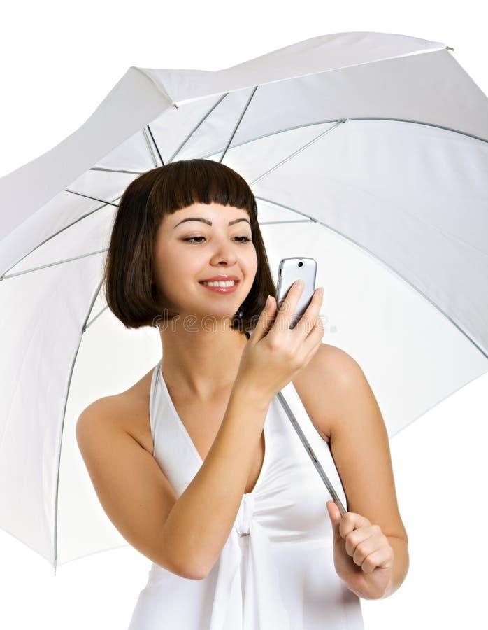 λευκό brunette στοκ εικόνες με δικαίωμα ελεύθερης χρήσης