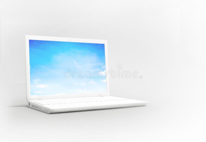 λευκό lap-top διανυσματική απεικόνιση
