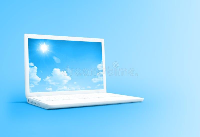λευκό lap-top απεικόνιση αποθεμάτων