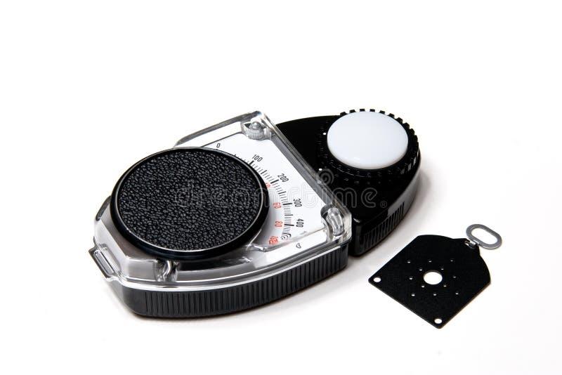 λευκό lightmeter ανασκόπησης στοκ φωτογραφία