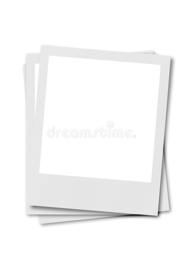 λευκό polaroid ταινιών ανασκόπησης διανυσματική απεικόνιση