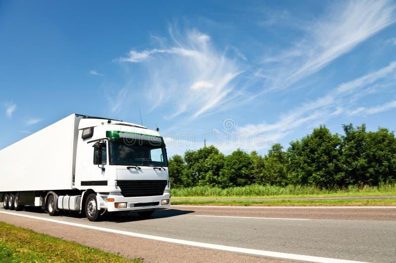 λευκό truck στοκ εικόνα