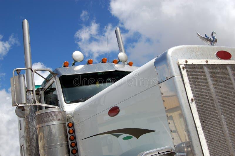 λευκό truck στοκ εικόνες