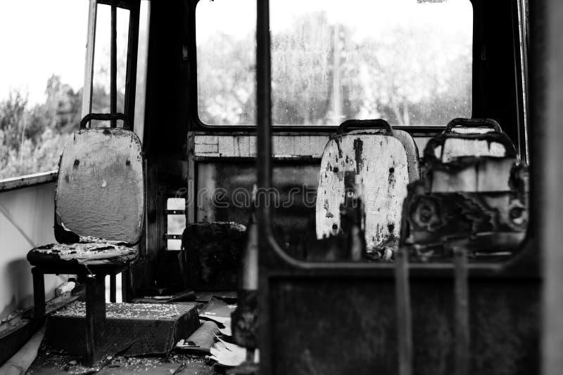 Λεωφορείο που καίγεται στοκ εικόνες με δικαίωμα ελεύθερης χρήσης