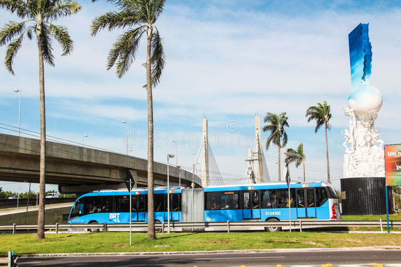 Λεωφορείο BRT στο Ρίο ντε Τζανέιρο στοκ φωτογραφία