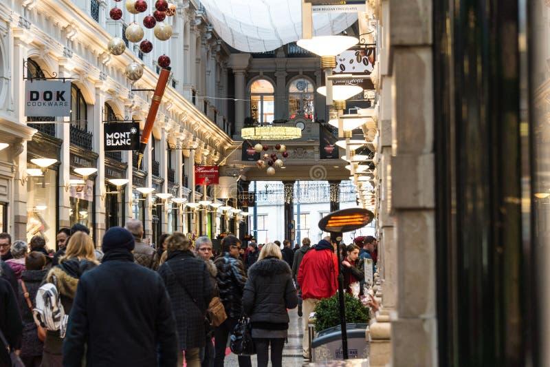 Λεωφόρος αγορών στην πόλη της Χάγης στις Κάτω Χώρες στοκ φωτογραφία με δικαίωμα ελεύθερης χρήσης