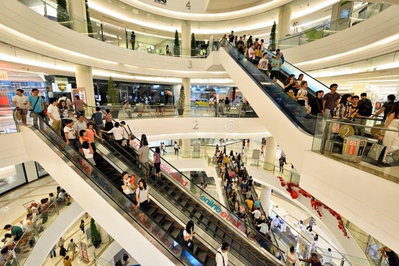 Λεωφόρος αγορών του Σιάμ Paragon, Μπανγκόκ στοκ εικόνα με δικαίωμα ελεύθερης χρήσης